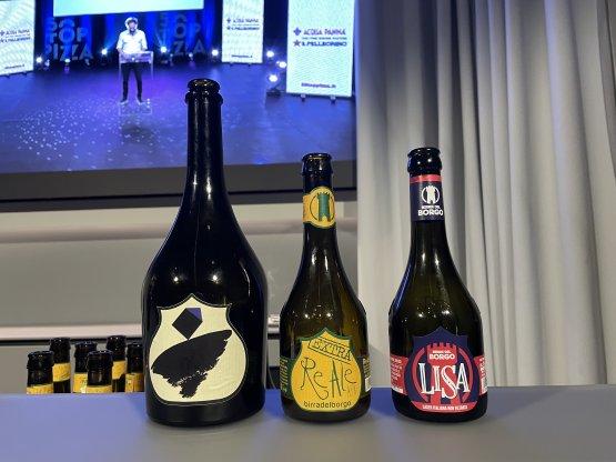 Le tre birre protagoniste della serata: L'Equilibrista, ReAle Extra e Lisa