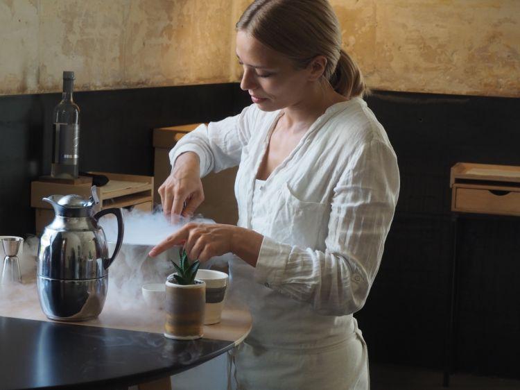 Isabella Potì, compagna di Floriano Pellegrino e chef del Bros