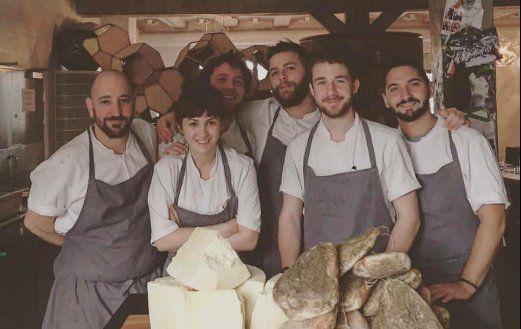 A small part of the Italian cooks who have passed through Noma: left to right,Luca Armellino,Jessica Natali,Edoardo Fiaschi, Riccardo Canella, Stefano Ferraro