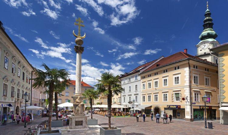 Klagenfurt,piazza Alter-Platz