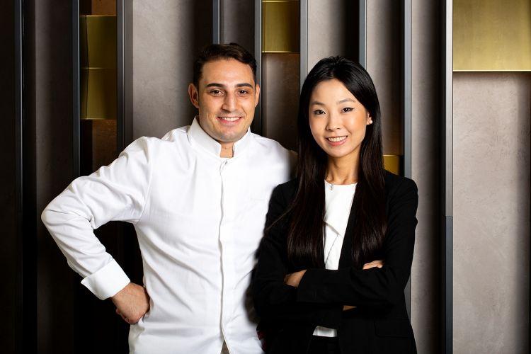 Lo chef Guglielmo Paolucci e la titolare Giulia Li