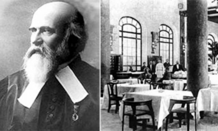 Lucien Olivier, il creatore, nell'Ottocento a Mosca, di un'Insalata russa che è quasi totalmente differente da quella arcinota oggi in Italia