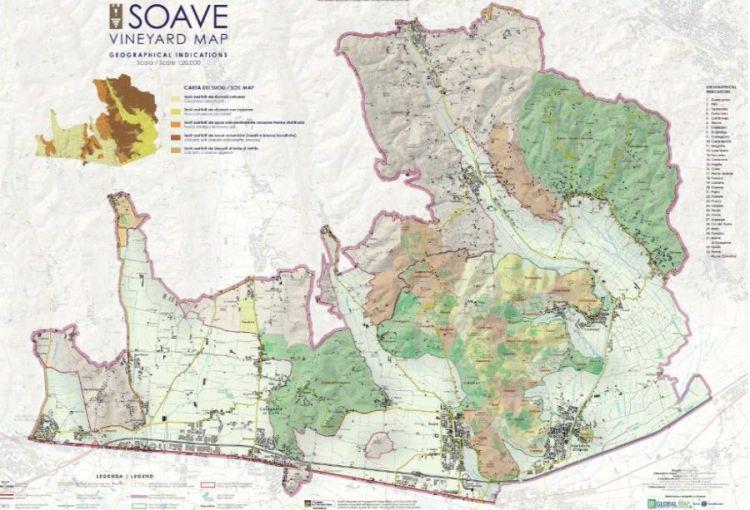 La mappa delle vigne di Soave