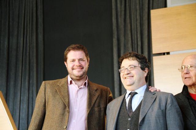 Gli autori Marco Bolasco e Marco Trabucco (foto Porzioni Cremona)