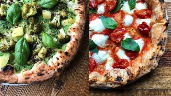 Due pizze di Marghe, presente a Milano con due pizzerie:via Cadore 26 e via Plinio 6