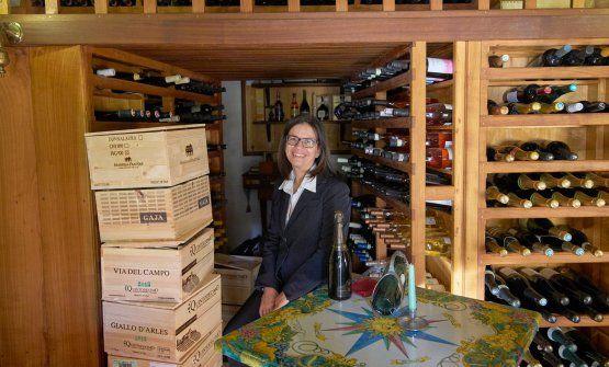 Mariella Caputo, sorella di Alfonso Caputo e prima sommelier donna in Campania alla Taverna del Capitano