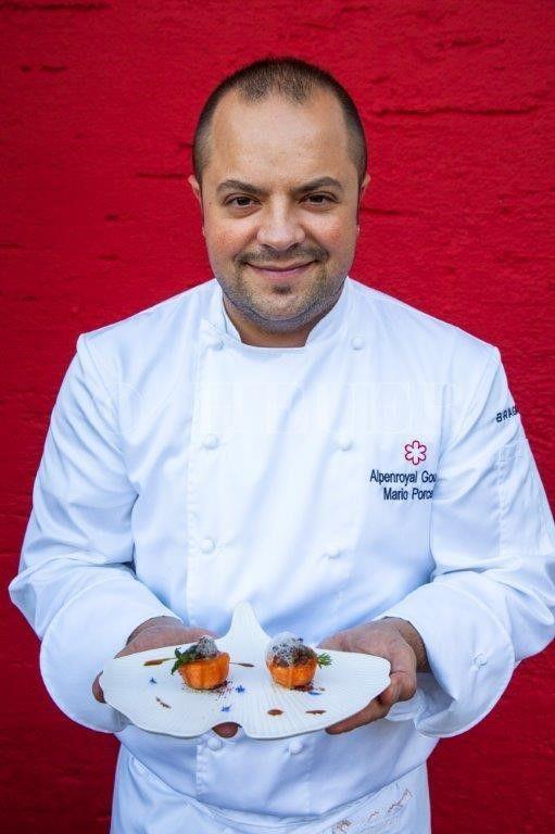 Mario Porcelli, chef del ristoranteAlpenroyal Gourmet