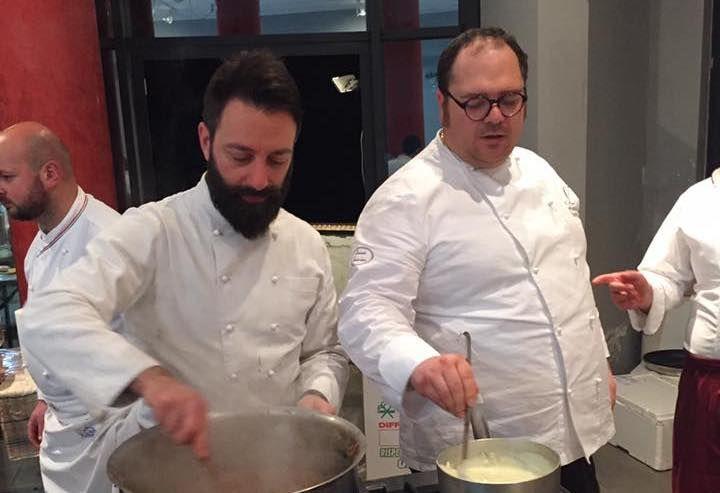 Giuseppe Misuriello (Antica Osteria Marconi) e Vitantonio Lombardo (ristorante omonimo)