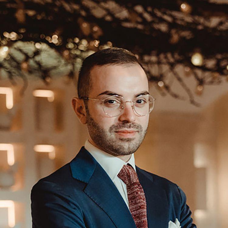 Nicola Loiodice, del Due Camini a Borgo EgnaziadiFasano (Brindisi), premiato da Alberto Ugolini, Brand Ambassador di Kettmeir