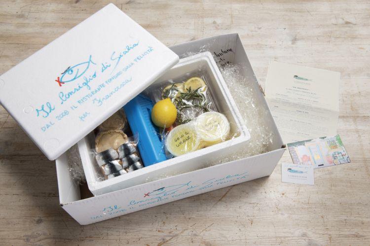 La box delivery Non abbattetevi (foto diFrancesca Moscheni)