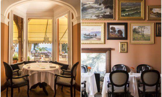 Tavoli alNove a Villa della Pergola ad Alassio, teatro della cucina di Giorgio Servetto, 1 Stella Michelin