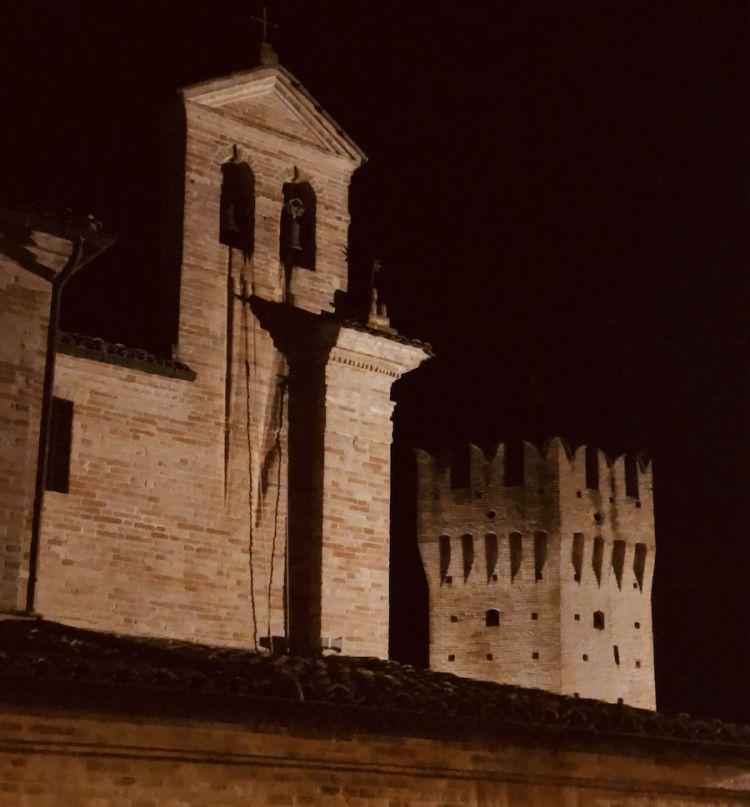 Il centro storico di Ortezzano, comune di quasi 800 anime nel Fermano