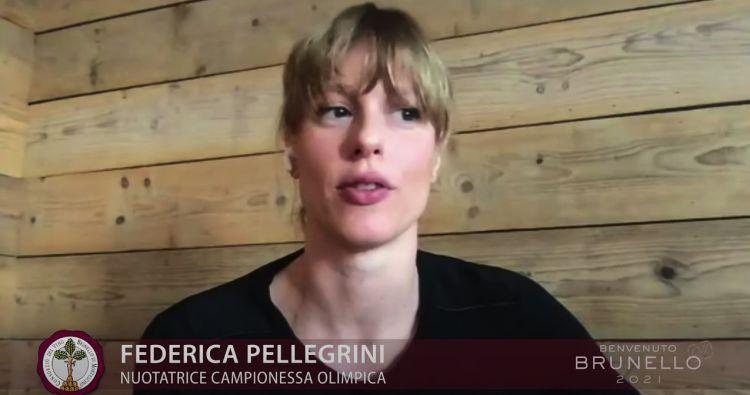 Federica Pellegrini nel video dipresentazione del Benvenuto Brunello Off