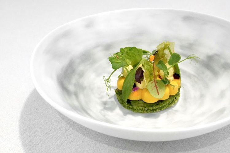 Ortaggi (spinaci, sedano, sedano rapa, finocchio, carote, mela, lattuga olive e barbabietola)