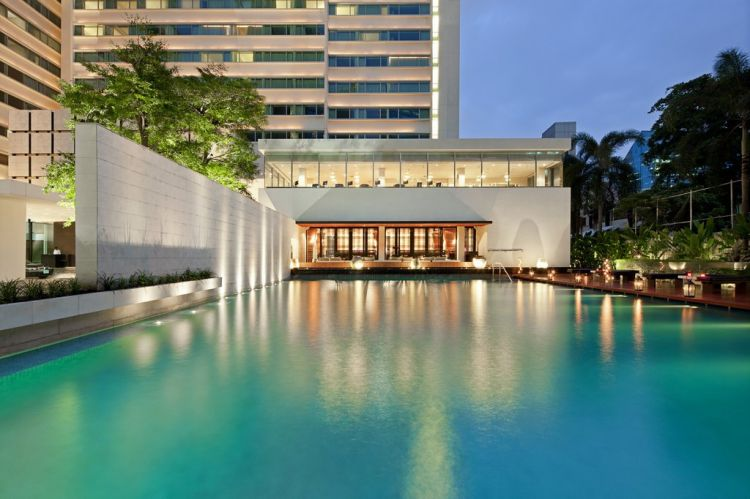 Particolare del Como Metropolitan di Bangkok, Tailandia