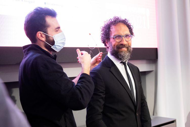 Federico Quaranta microfonato