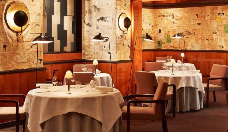 La sala del ristorante di Pierre Gagnaire a Parigi