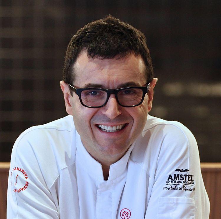 Ricard Camarena, Ricard Camarena a Valencia, è il Miglior Chef Straniero 2018. Premiato da Sara Peirone Top Gastronomy Manager Gruppo Lavazza