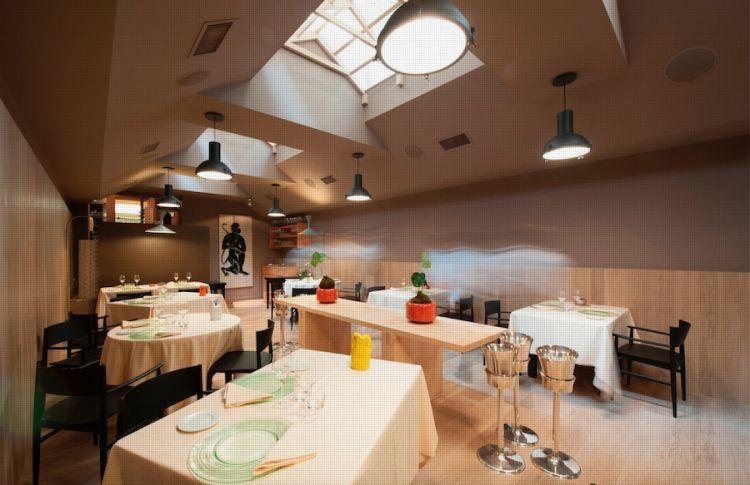 Una sala del Joia, ristorante di Alta cucina naturale a Milano