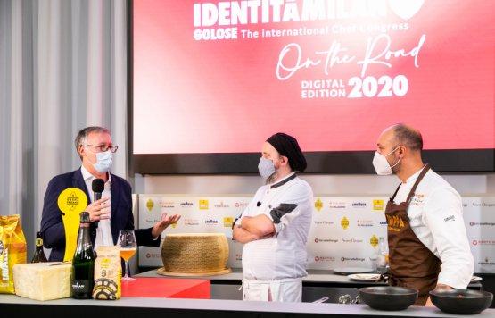 Gabriele Zanatta modera la lezione con Michele Valotti e Diego Rossi