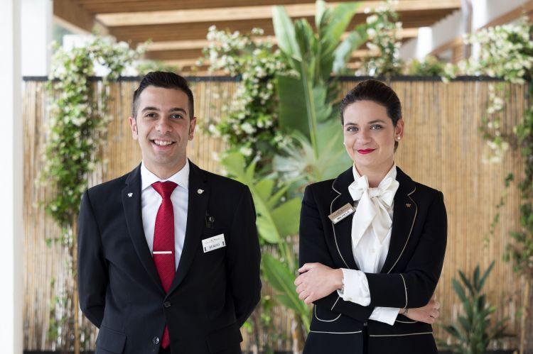 Benito Scatà, sommelier del ristorante Principe di Belludia, e Michela Vitale, giovane maître di sala