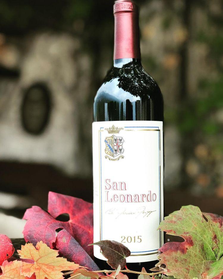 Il San Leonardo 2015, al momento in commercio