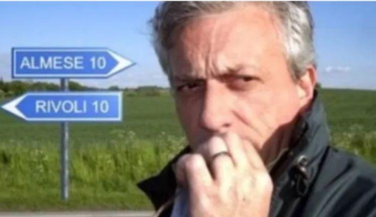 In uno scatto di Gil Grigliatti, Davide Scabin a metà strada tra i due paesi che lo hanno visto brillare come chef: Almese e il Combal del secolo scorso e dal 2000 Rivoli e il Combal.0
