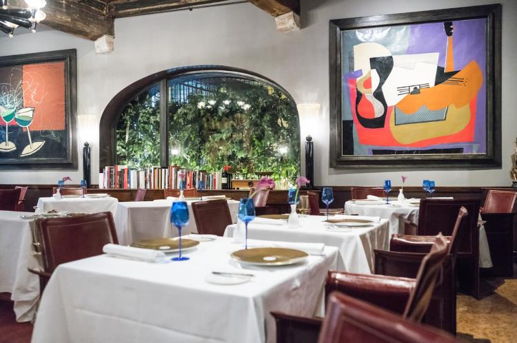 La bella sala del ristorante Il Desco