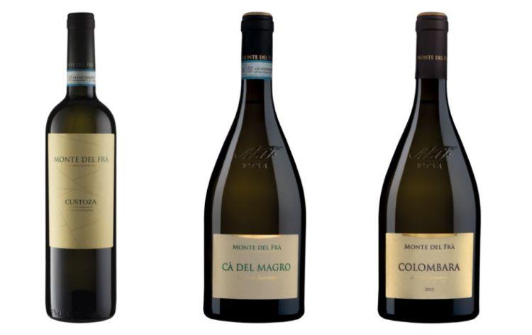 I tre vini degustati: Custoza, Ca' del Magro e Garganega