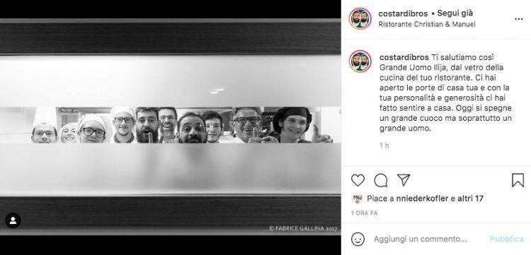 L'addio dei fratelli Costardi