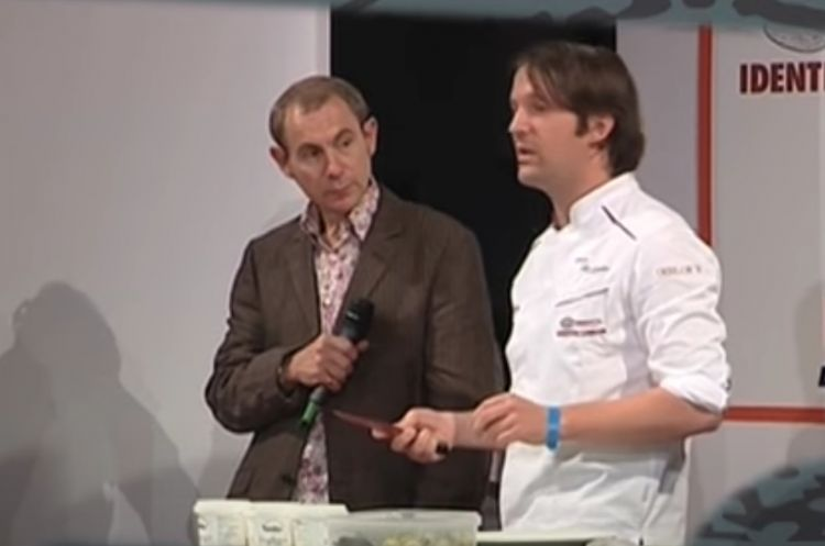 Rene Redzepi on the stage of Identità London, in 2009. The year before he had been nominated International Chef of the Year for the Guida di Identità Golose