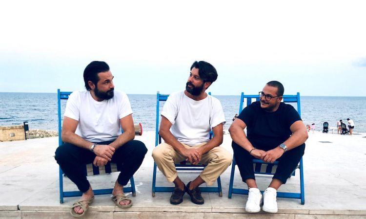 Pronti per il servizio alla Taverna del porto, da sinistra verso destra Alessandro Coppola, Roberto Rizzo e Pierluigi Coppola