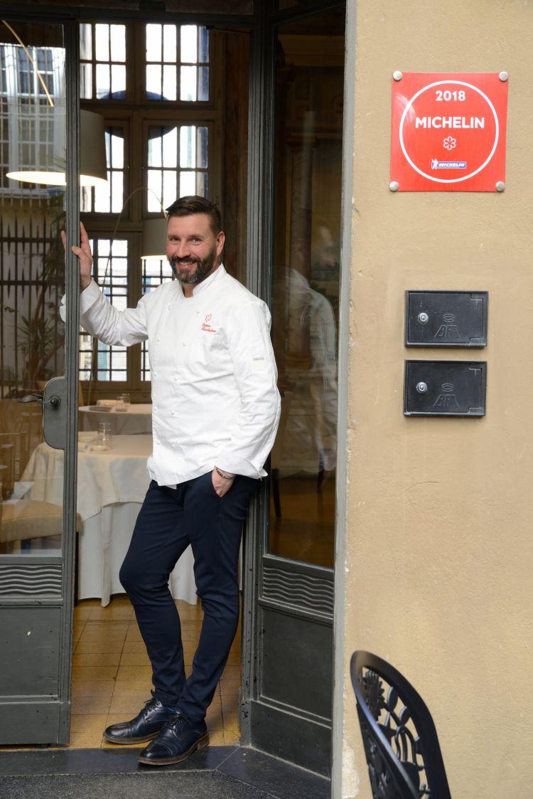 Ivano Ricchebono, chef stellato delThe Cookdi Arenzano (Genova)