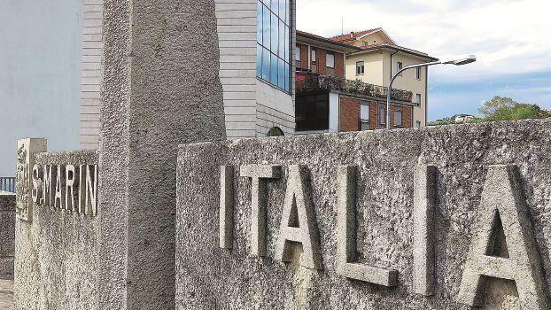 Il confine tra San Marino e Italia