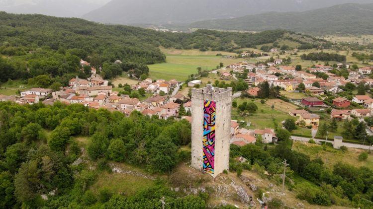 La Torre di Torano è stata recentemente personalizzata con dei graffiti dalla compagnia di street-art torinese, la Truly Design Crew, un'iniziativa promossa e sostenuta da Birra del Borgo per rilanciare il piccolo villaggio di Borgorose (Rieti)