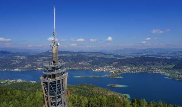 Torre panoramica Pyramidenkogel sul Lago Woerthersee