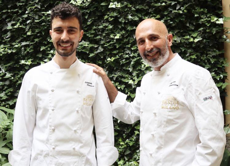 Andrea Ribaldone, a destra, con Edoardo Traverso, da settembre 2020 il resident chef di Identità Golose Milano