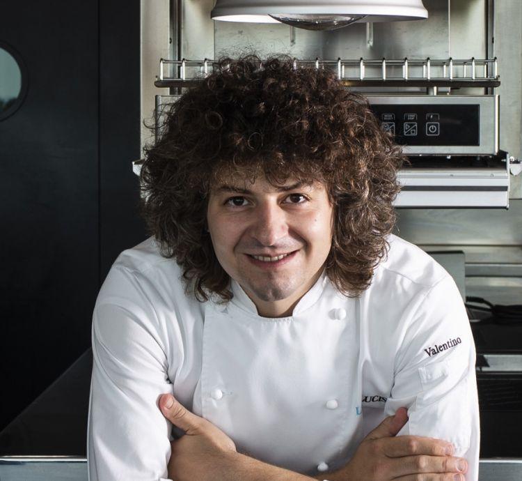 Valentino Cassanelli, chef del ristorante Lux Lucis del Principe Forte dei Marmi, Forte dei Marmi, premiati da Piero Gabrieli e Chiara Quaglia proprietari di Molino Quaglia.