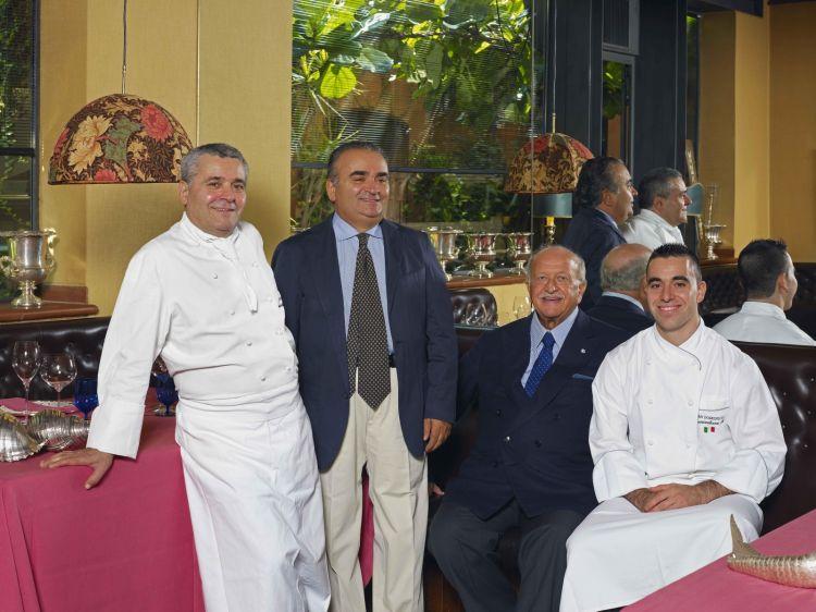 Valentino Marcattilii, Natale Marcattilii, Gianluigi Morini e Massimiliano Mascia in una foto recente