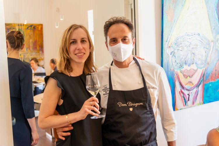 Valeria Righetti, senior brand manager diDom Pérignon and The Moët Hennessy Wine Division e Nino Di Costanzo
