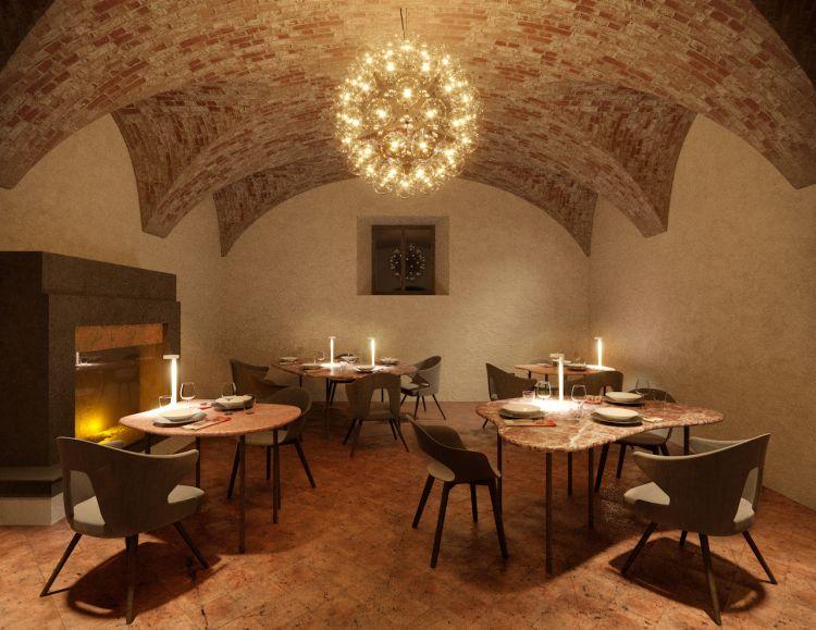 Ambiente curato ed elegante per un ristorante che in menu avrà al 100% carne cotta alla brace
