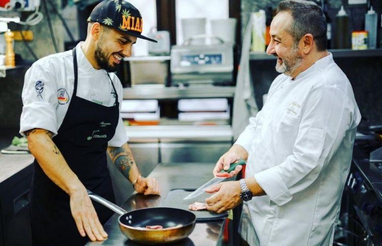 In cucina con il sous chef Giuseppe Lapi