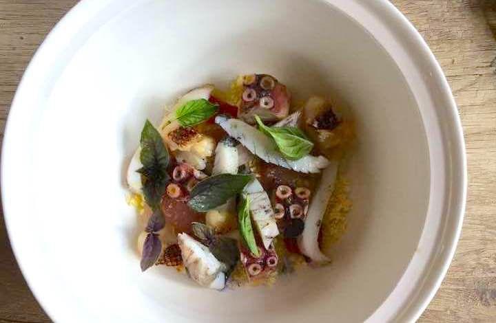 Un piatto di Davide Atzeni (foto Gianna Melis)