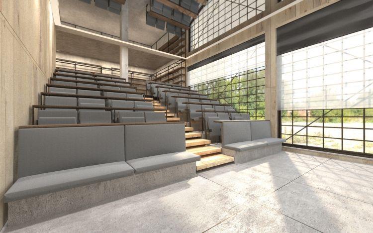 Il Campusconterrà laboratori di ricerca, aule didattiche, centro di produzione per materiali didattici virtuali e aree comuni, spazi multimediali,ristorante didattico espazi aperti per sperimentazioni agronomiche a contatto con la natura