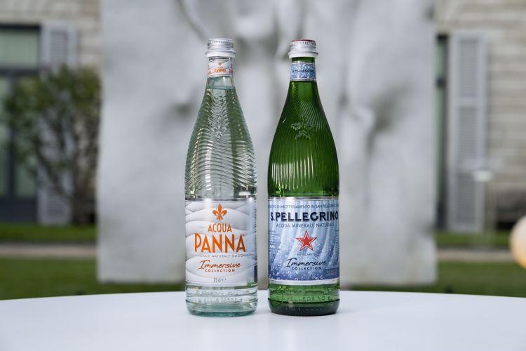 Le nuove bottiglie iconiche di Acqua Panna e S.Pellegrino