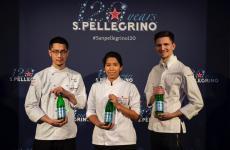 Il giapponeseYasuhiro Fujio,la peruvianaElisabeth Puquio Landeo,l'italianoPaolo Griffa: sono stati loro i tre giovani chef che hanno firmato il menu per il 120° anniversario di S.Pellegrino. Con loro, anche il maestroEnrico Cerea