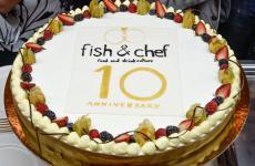 La torta per i10 anni diFish & Chef