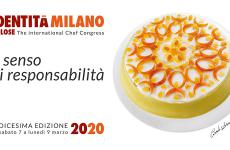 The poster of the 16th edition of the Identità Golose Congress: Corrado Assenza's Cassata is the emblem-dish, photo by Brambilla - Serrani