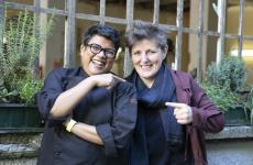 Ritu Dalmia e Viviana Varese: saranno insieme nel nuovo progetto di Spica, in via Melzo 9 a Milano. Apre tra un paio di mesi, i lavori sono in corso