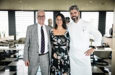 Da sinistra a destra, Maurice Richard Hennessy, ambasciatore di Hennessy nel mondo, Flavia Di Giustino,brand ambassador HennessyeFrancesco Mascheroni, chef del ristorante dell'Armani Hotel di Milano